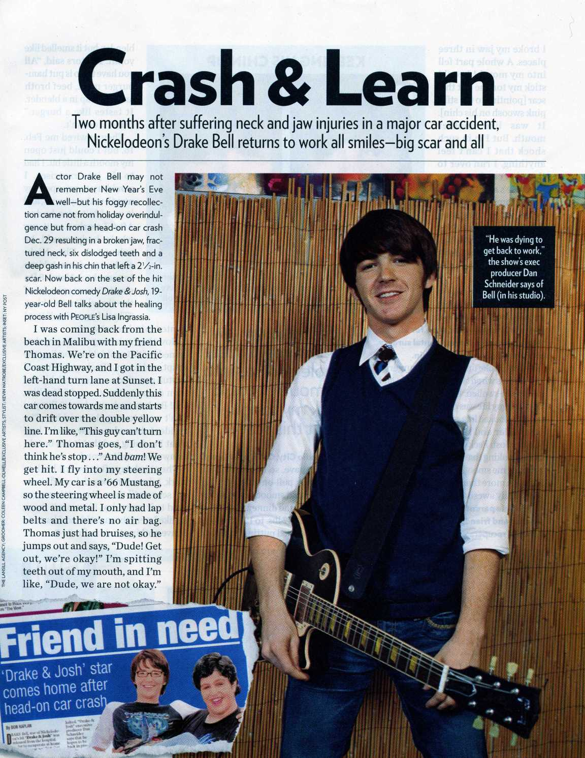 the drake bell car crash story fear of bliss