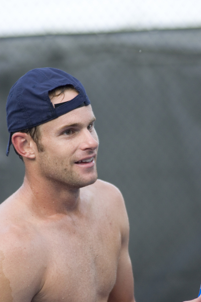 andy roddick bald. Andy Roddick might as well be