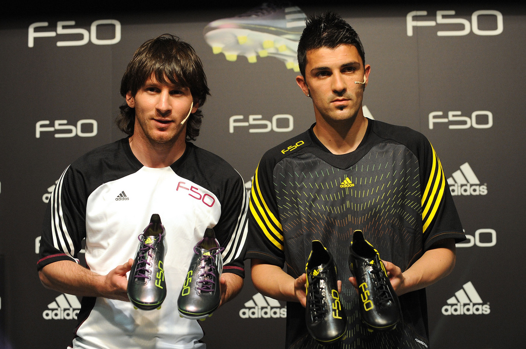 David Villa Messi Lionel Messi And David Villa …
