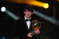 Argentina's Lionel Messi poses with the