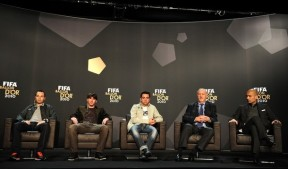 (L-R) Nominee for the FIFA Ballon d'Or,