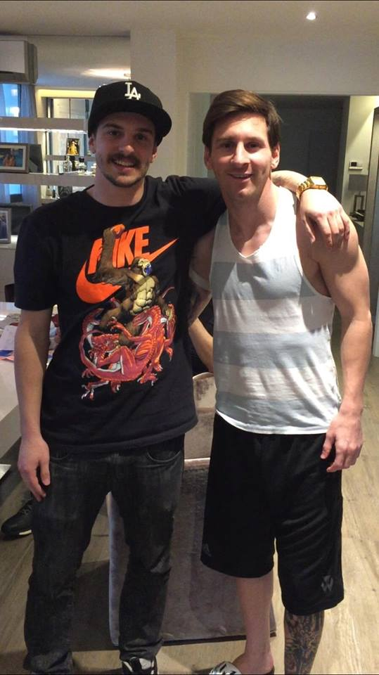 Leo Messi New Tattoo in the works
